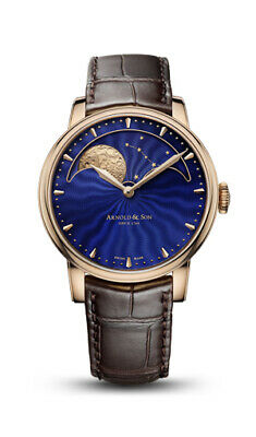 ARNOLD & SON MOONPHASE NEW! BOX AND PAPERS! RARE BLUE DIAL!