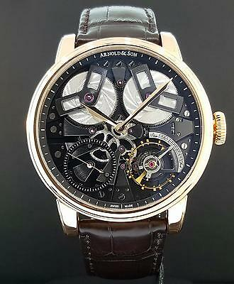 Arnold & Son Royal Collection TB88 True Beat 18k Rose Gold 46mm Box & P Mint