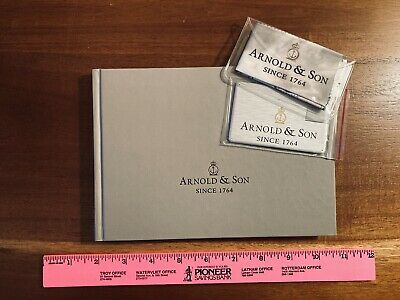 Arnold & Son skeleton gold Coffee Table book USB memory watch cloth with logo