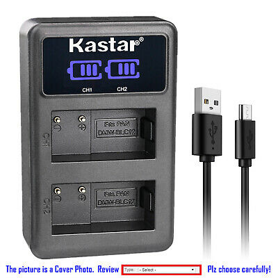 Kastar Battery LCD Dual Charger for Leica BP-DC12 DC12 Leica Q-P Digital Camera