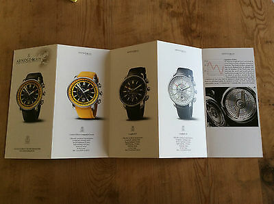 New - Booklet Arnold & Son Watches Montres - For Collectors