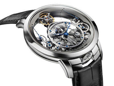 Arnold & Son Time Pyramid Skeleton watch leather strap 1TPAS.S01A.C124S